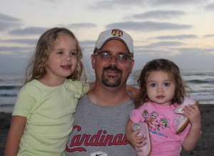 Joe MCCall with his girls