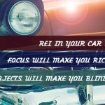 REI In Your Car 18: Focus Will Make You Rich, Shiny Objects Will Make You Blind