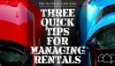 REI In Your Car 200: Three Quick Tips for Managing Rentals