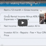 Wholesaling 101 – Part 10 – Making Fast Offers, Part 1